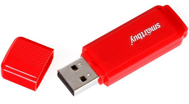 USB флешка Smartbuy Dock 16Gb Red (SB16GBDK-R) USB 2.0 / 15 МБ/cек / 5 МБ/cек usb флеш накопитель smartbuy lara 16gb red