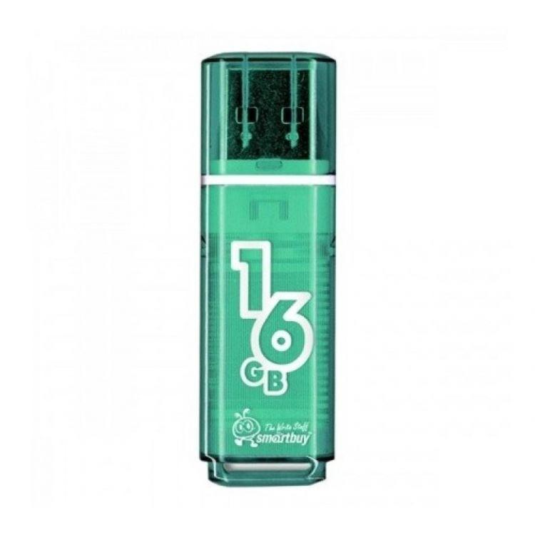 лучшая цена USB флешка Smartbuy Glossy series 16Gb Green (SB16GBGS-G) USB 2.0 / 15 МБ/cек / 5 МБ/cек