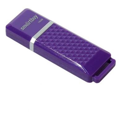 USB флешка Smartbuy Quartz series 16Gb Violet (SB16GBQZ-V) USB 2.0 / 15 МБ/cек / 5 МБ/cек usb флешка qumo click 16gb violet qm16gud clk violet usb 2 0