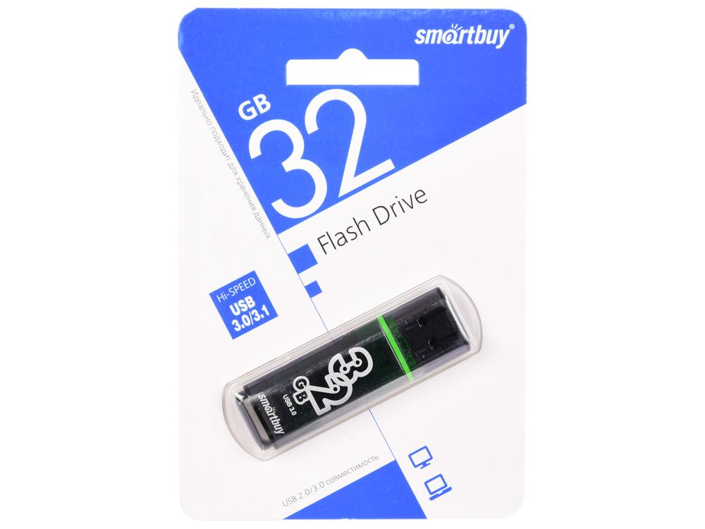 USB флешка Smartbuy Glossy series 32Gb Dark Grey (SB32GBGS-DG) USB 3.0 / 75 МБ/cек / 10 МБ/cек