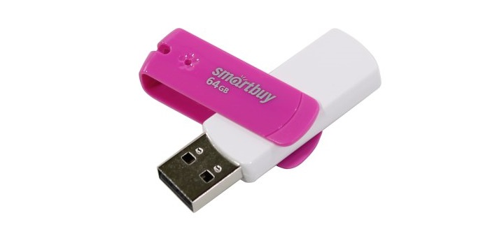 USB флешка SmartBuy Diamond 64GB Pink (SB64GBDP) USB 2.0 1gb флешка диск usb usb 2 0 пластик музыкальные инструменты мультяшная тематика