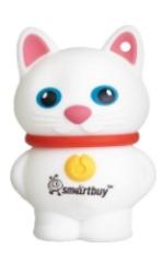 USB флешка Smartbuy Котенок 16Gb White (SB16GBCatW) 2.0 / 15 Мб/с 5