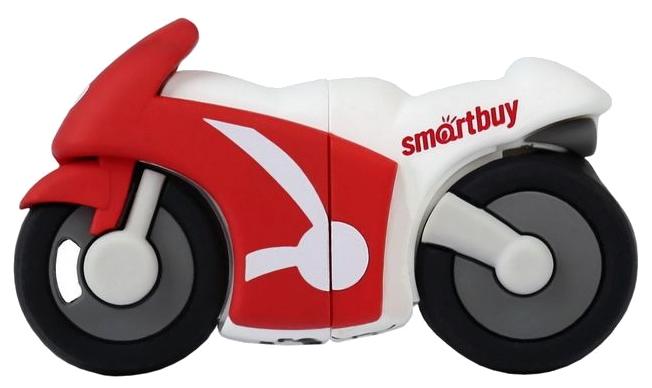 USB флешка Smartbuy Байк 16Gb White/red (SB16GBBike) 2.0 / 15 Мб/с 5
