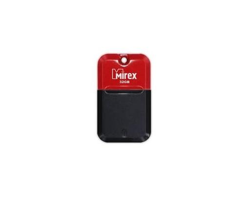 USB флешка Mirex Arton 32Gb Black-red (13600-FMUART32) USB 2.0 / 23 Мб/с / 10 Мб/с usb флешка mirex knight 8gb white 13600 fmukwh08 usb 2 0 18 мб с 8 мб с