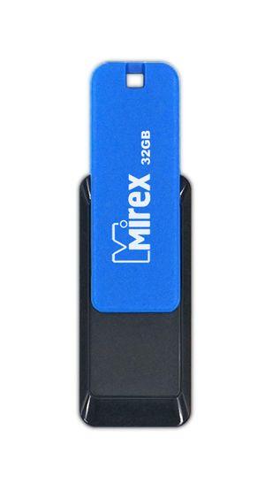 USB флешка Mirex City 32Gb Blue-black (13600-FMUCIB32) USB 2.0 / 18 Мб/с / 8 Мб/с usb флешка mirex knight 8gb white 13600 fmukwh08 usb 2 0 18 мб с 8 мб с