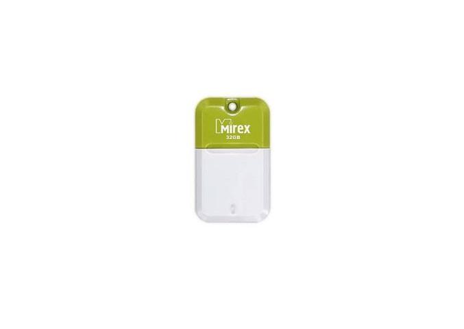 Фото - USB флешка Mirex Arton 32Gb White-green (13600-FMUAGR32) USB 2.0 / 23 Мб/с / 10 Мб/с usb флешка adata uv100 32gb blue auv100 32g rbl usb 2 0 15 мб с 5 мб с