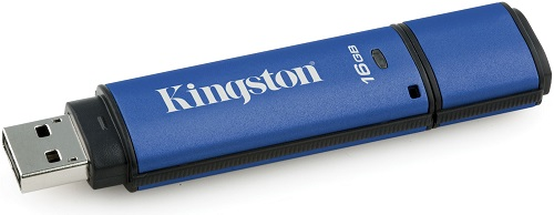 USB флешка Kingston Vault Privacy 3.0 16Gb Gray (DTVP30DM/16GB) USB 3.0 / 165 Мб/с / 22 Мб/с