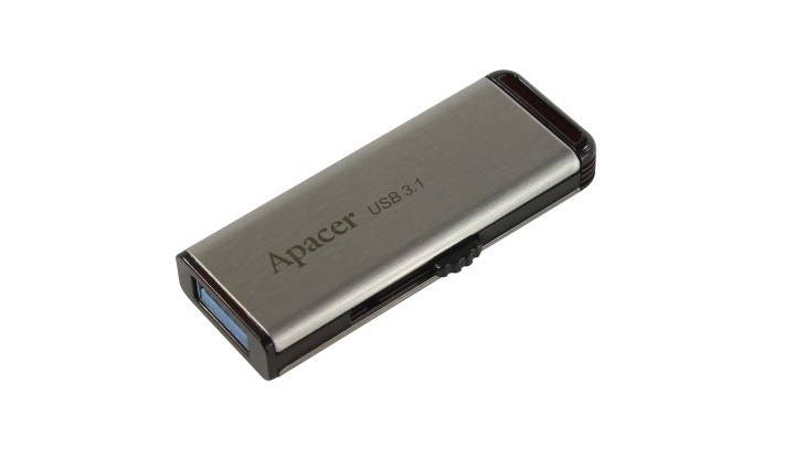 USB флешка Apacer AH35A 64Gb Silver (AP64GAH35AS-1) USB 3.1 цена и фото