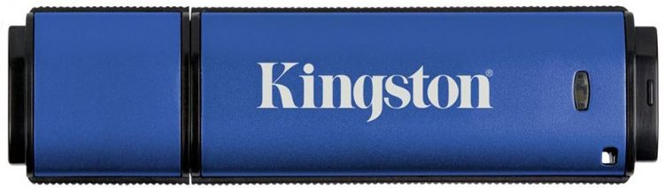 цена на USB флешка Kingston DataTraveler Vault Privacy 64Gb Blue (DTVP30/64GB) USB 3.0 / 250 Мб/с / 85 Мб/с
