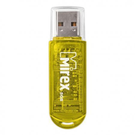 USB флешка Mirex Elf 8Gb Yellow 13600-FMUYEL08 USB 2.0 / 16 Мб/с / 8 Мб/с usb флешка mirex elf 8gb blue 13600 fmuble08 usb 2 0 16 мб с 8 мб с