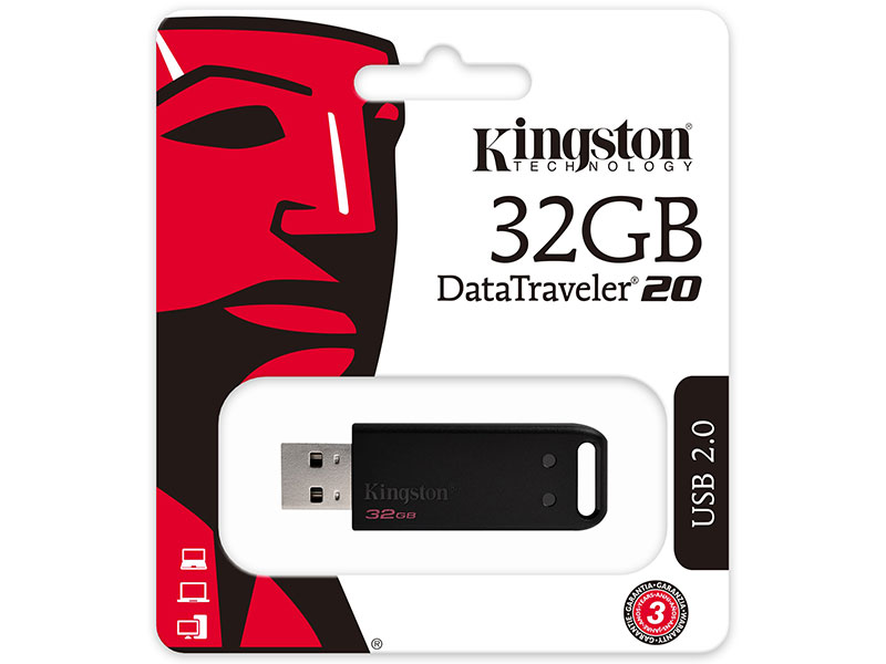 USB флешка Kingston DataTraveler DT20 32Gb Black (DT20/32GB) USB 2.0
