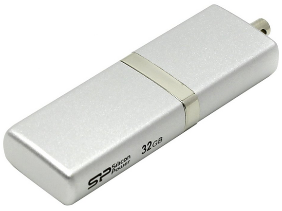 Фото - USB флешка Silicon Power Luxmini 710 32Gb Silver (SP032GBUF2710V1S) USB 2.0 usb флешка silicon power luxmini 710 16gb silver sp016gbuf2710v1s usb 2 0