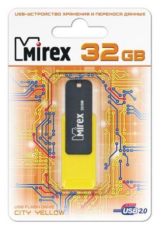 Фото - USB флешка Mirex City 32Gb Black-yellow (13600-FMUCYL32) USB 2.0 флеш накопитель 32gb mirex intro usb 2 0