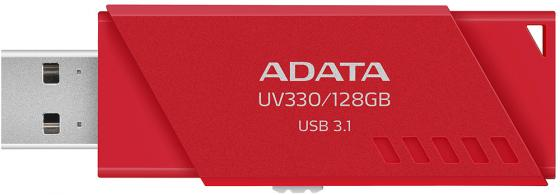 лучшая цена USB флешка ADATA UV330 128Gb Red (AUV330-128G-RRD) USB 3.1