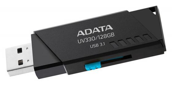 лучшая цена USB флешка ADATA UV330 128Gb Black (AUV330-128G-RBK) USB 3.1