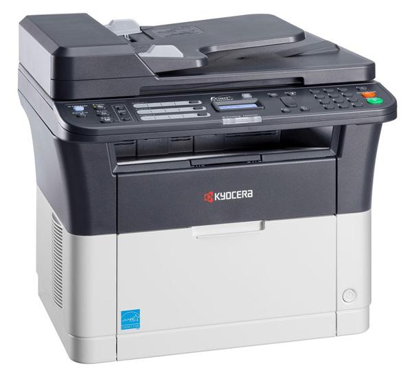 МФУ Kyocera FS-1025MFP черно-белый/лазерный А4, 25 стр/мин, 251 лист, duplex, USB, RJ45, 64Mb цена