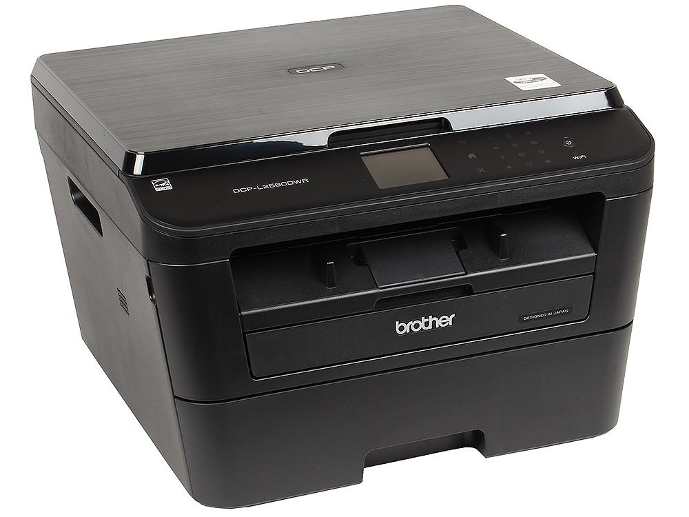 МФУ Brother DCP-L2560DWR лазерный, принтер/ сканер/ копир, A4, 30стр/мин, дуплекс, 64Мб, USB, LAN, WiFi мфу kyocera fs 1020mfp копир принтер сканер 20 ppm a4
