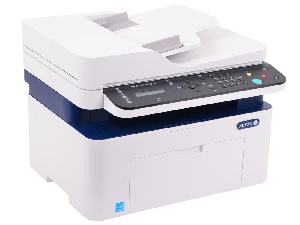 МФУ Xerox WorkCentre 3025NI (A4, лазерный принтер/сканер/копир/факс, 20 стр/мин, до 15K стр/мес, 128MB, GDI, USB, Network, Wi-fi)
