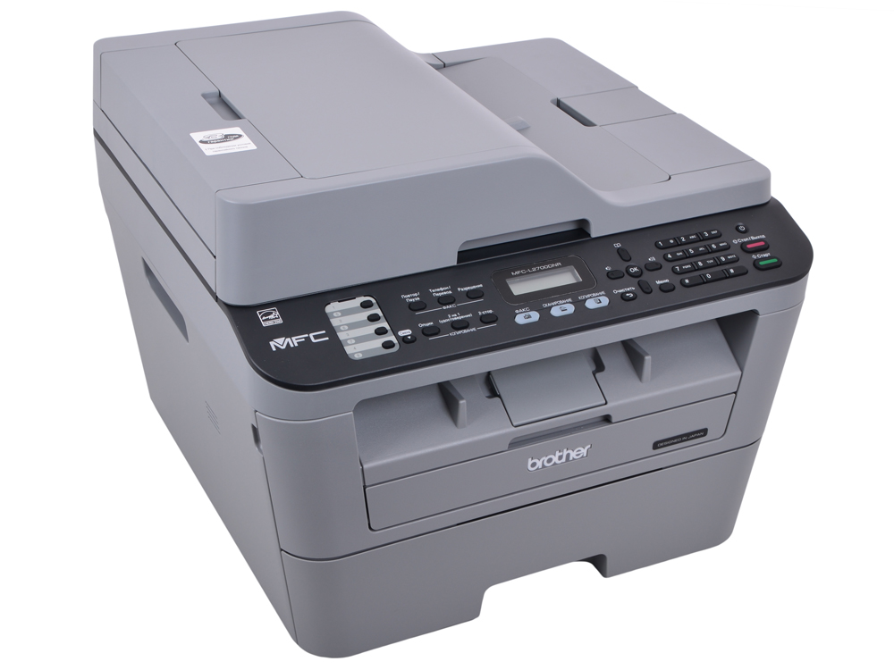 МФУ лазерное Brother MFC-L2700DNR принтер/ сканер/ копир/ факс, A4, 24стр/мин, дуплекс, ADF, 32Мб, USB, LAN мфу brother mfc l2700dnr