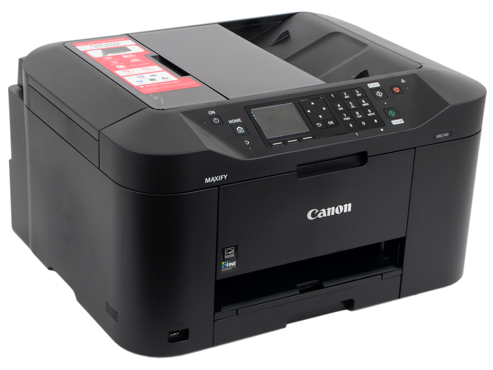 МФУ Canon MAXIFY MB2140 (струйный, принтер, сканер, копир, факс, ADF, Wi-Fi) мфу canon maxify mb2140