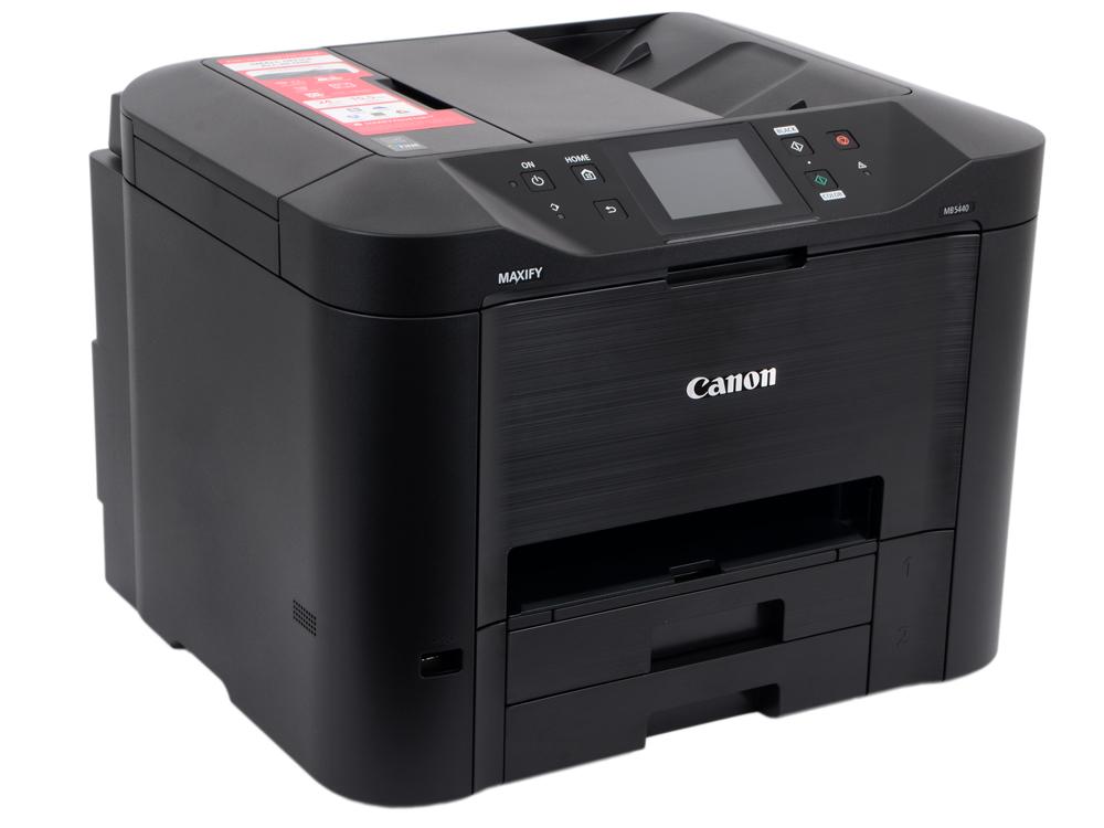 МФУ Canon MAXIFY MB5440 (струйный, принтер, сканер, копир, факс, DADF, Wi-Fi) мфу canon maxify mb2140