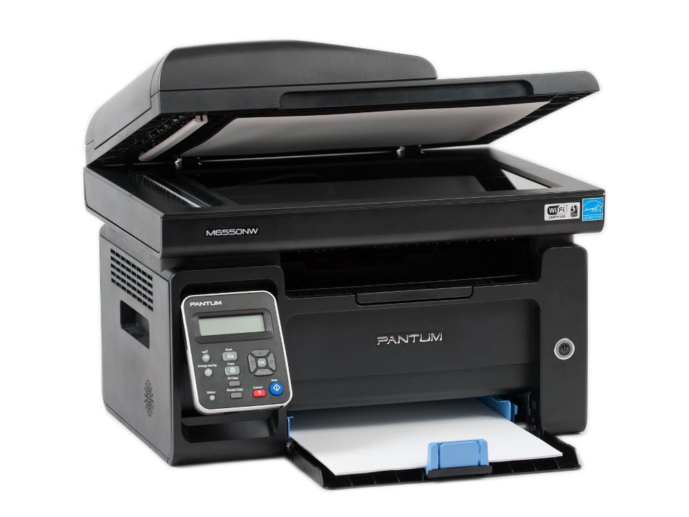 купить МФУ Pantum M6550NW черно-белый/лазерный А4, 22 стр/мин, 150 листов, Fax, USB, Wi-Fi, RJ45, 128Mb по цене 9290 рублей