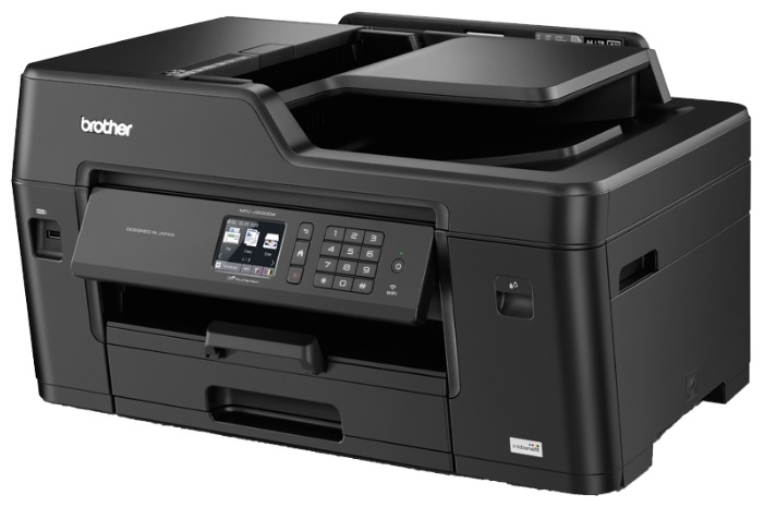 МФУ струйное Brother MFC-J3530DW A3, 35/27 стр/мин, 250 листов + 50 листов, ADF, Fax, NFC, USB, Ethernet, WiFi, 128MB цена