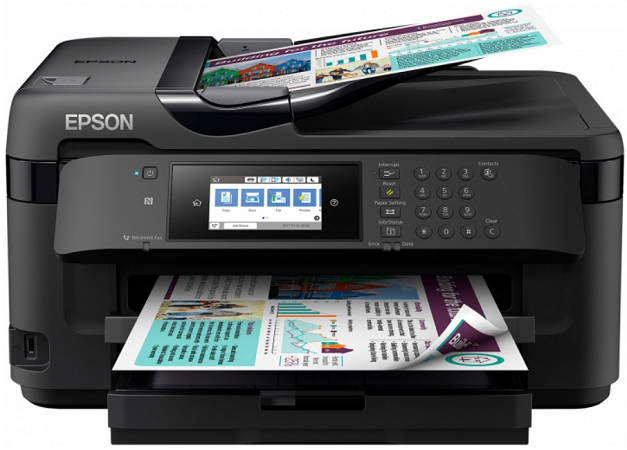 МФУ EPSON WorkForce WF-7710DWF цветное A3 32ppm 4800x2400dpi Wi-Fi C11CG36413