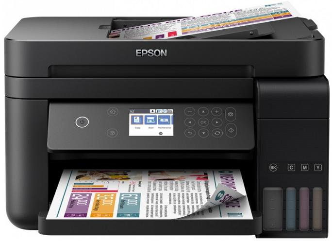 МФУ EPSON L6170 Принтер/сканер/копир. A4. Фабрика Печати. Цветной. Wi-Fi. ЖК дисплей.
