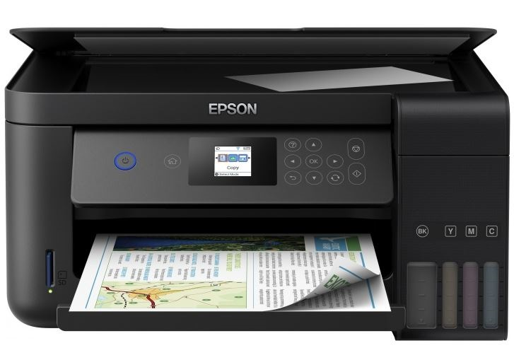 МФУ EPSON L4160 Принтер/сканер/копир. A4. Фабрика Печати. 33 стр/мин. Цветной. Wi-Fi. ЖК дисплей. мфу kyocera fs 1020mfp копир принтер сканер 20 ppm a4