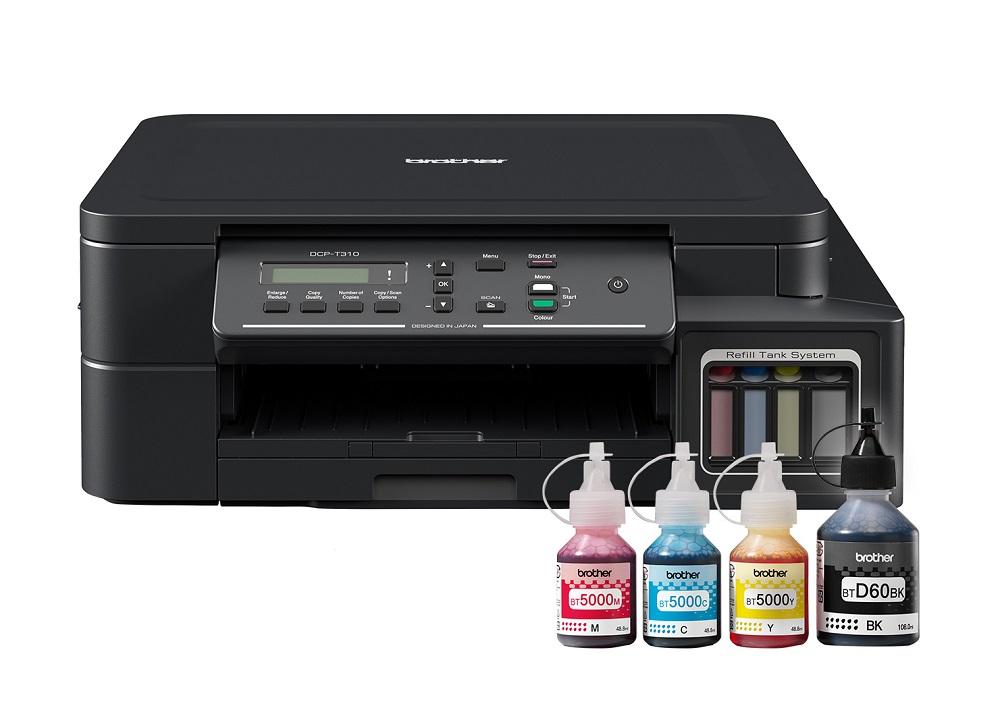 МФУ Brother DCP-T310 Ink Benefit Plus цветное/струйное А4, 12/6 изобр/мин, 150 листов, USB, 128MB мфу lexmark cx410e цветное а4 30ppm с автоподатчиком lan