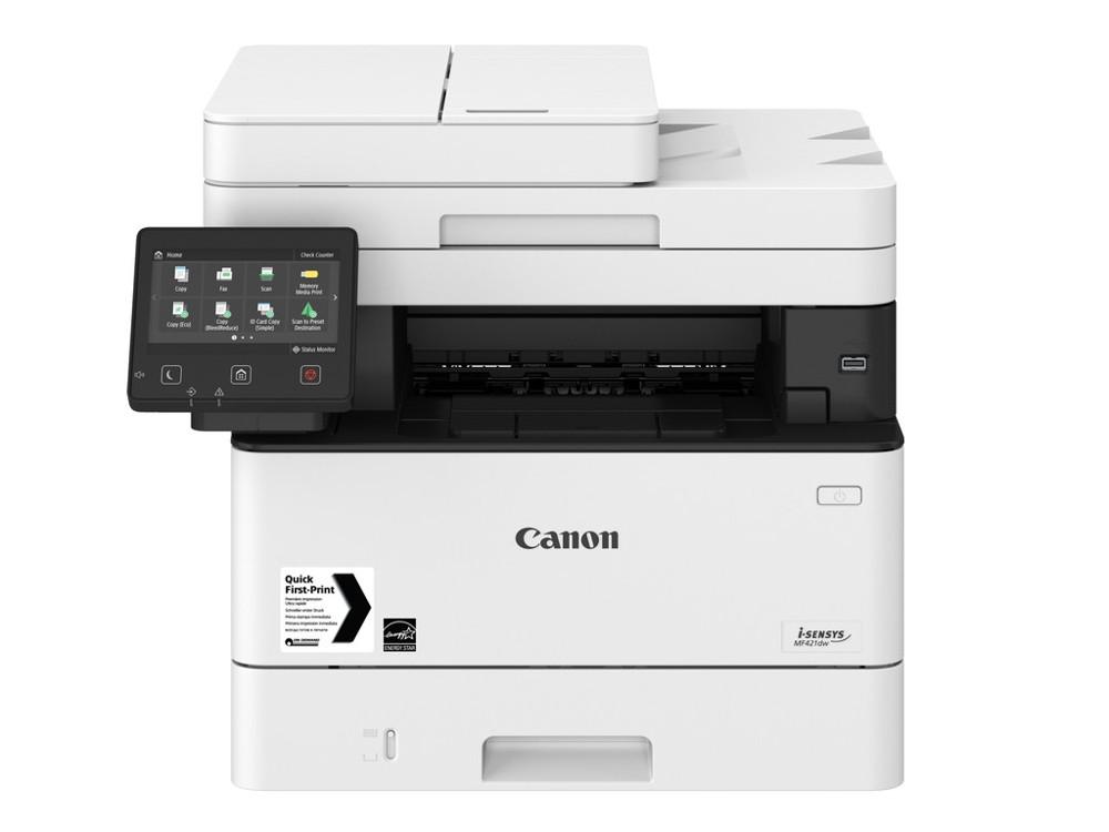 МФУ Canon I-SENSYS MF421dw A4, 38 стр/мин, 250 листов, duplex, DADF, USB, Ethernet, WiFi, 1GB мфу canon i sensys mf429x ч б а4 38ppm 1200x1200 dadf duplex ethernet wi fi usb fax 2222c024