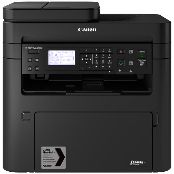 МФУ Canon i-SENSYS MF264dw черно-белый/лазерный А4, 28 стр/мин, 285 листов, duplex, USB, Wi-Fi, RJ45, 256Mb