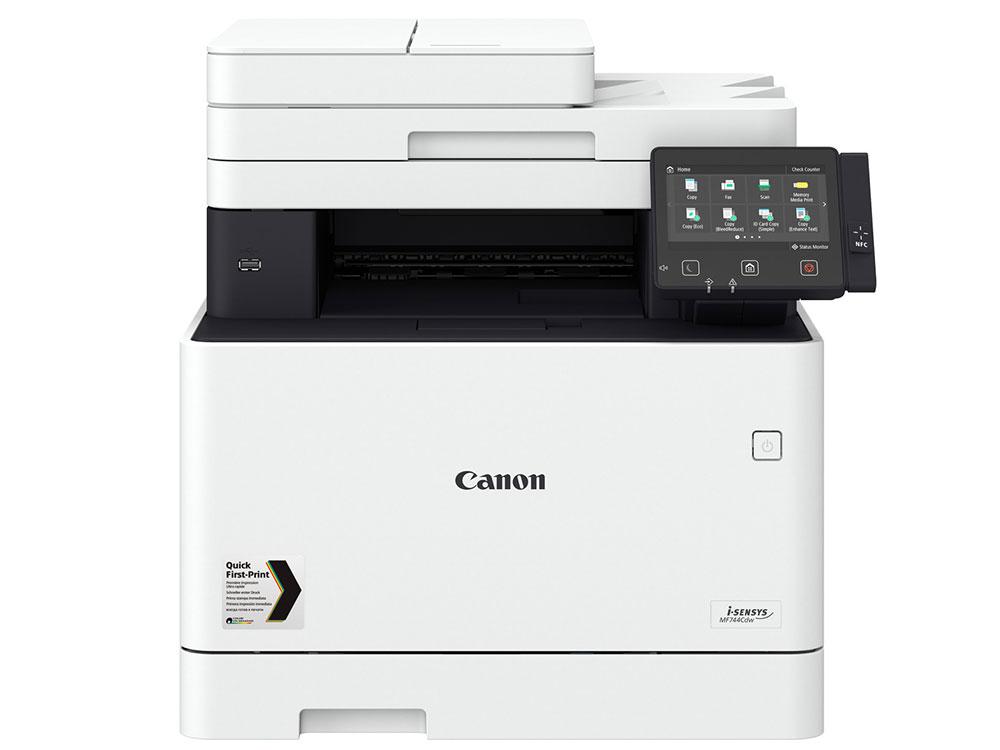 МФУ Canon i-SENSYS MF744Cdw А4, 27 стр/мин, 300 листов, Fax, USB, RJ45, Wi-Fi, 1Gb копир canon imagerunner c3025i цветной а3 25 стр мин radf fax 2 лотока 550 листов 2gb nfc lan 1gbs wi fi usb 2 0
