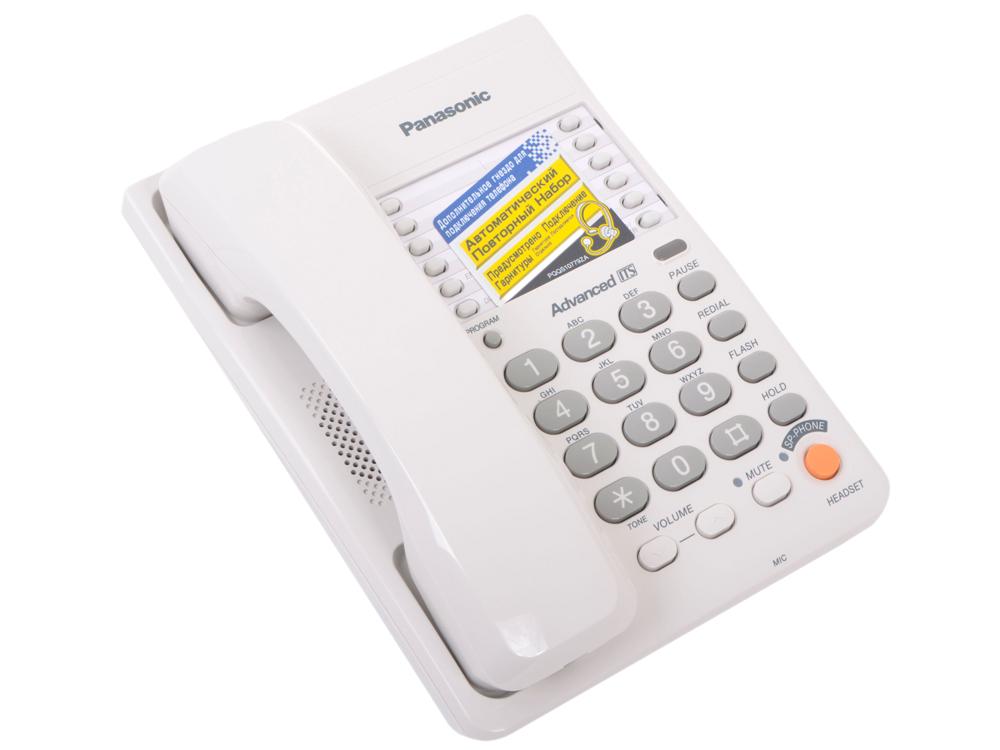 Телефон Panasonic KX-TS2363RUW ЖК-Дисплей, Flash, Recall, Pause, Память 20, Спикерфон, Wall mt. цена и фото