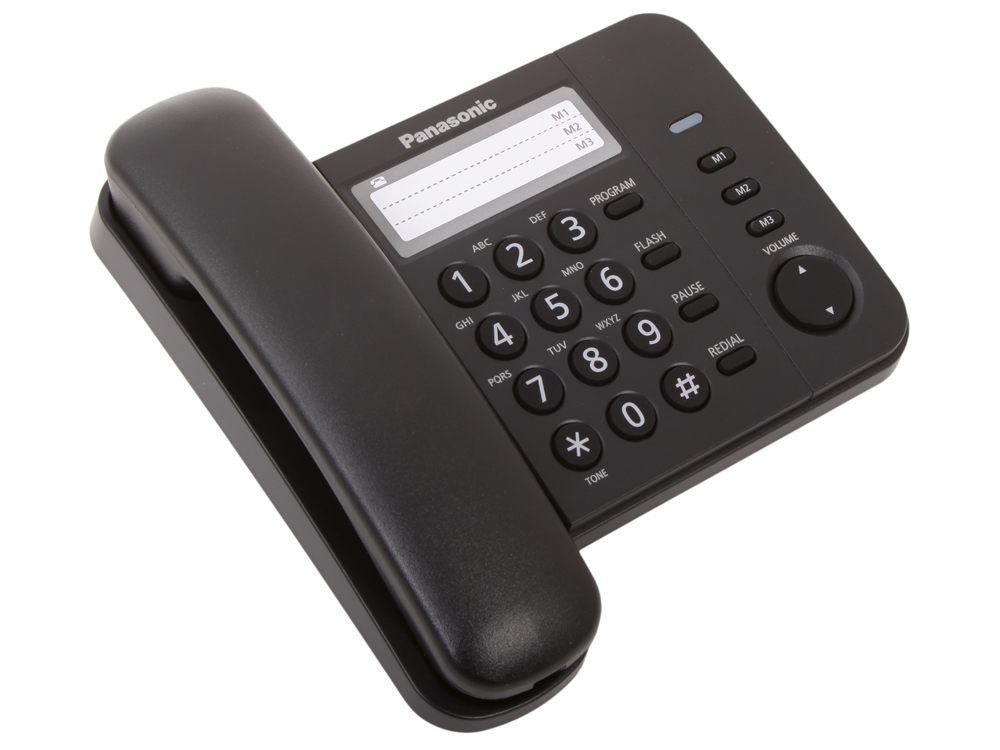 Телефон Panasonic KX-TS2352RUB Flash, Recall, Pause, Память 3, Wall mt. panasonic kx ts2352rub phone home fixed desktop phone landline for home and offfice use