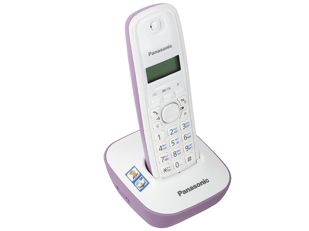 Телефон DECT Panasonic KX-TG1611RUF АОН, Caller ID 50, 12 мелодий fitbit alta smart fitness bracelet auto sleep record caller id спорт bluetooth ручной шагомер классическая синяя труба