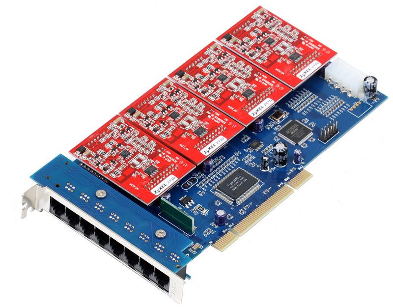 Модуль расширения ZyXEL M8FO8 8-ми портовый модуль FXO для IP-АТС X8004 модуль расширения zyxel m8t1e1 1 портовый модуль t1 e1 для ip атс x8004