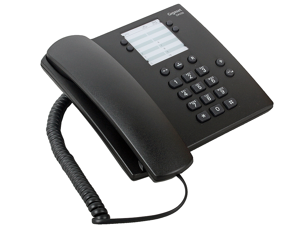 Телефон Gigaset DA100 Black (проводной) телефон gigaset c530a