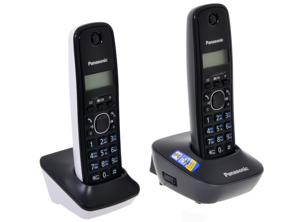 Телефон DECT Panasonic KX-TG1612RU1 АОН, Caller ID 50, 12 мелодий, + дополнительная трубка телефон dect yealink w53p dect sip телефон база трубка