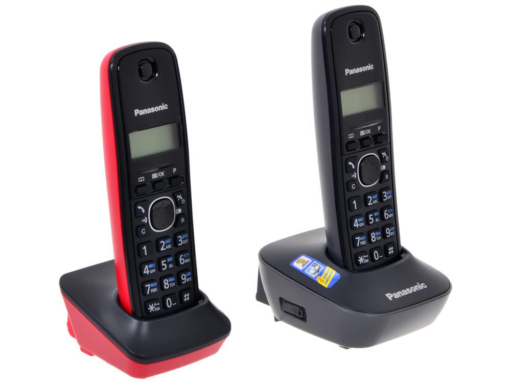 Телефон DECT Panasonic KX-TG1612RU3 АОН, Caller ID 50, 12 мелодий + дополнительная трубка телефон dect yealink w53p dect sip телефон база трубка