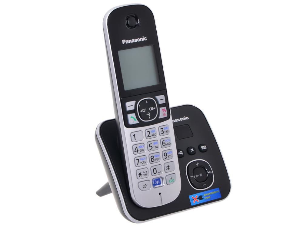 Телефон DECT Panasonic KX-TG6821RUB автоответчик АОН, Caller ID 50, Спикерфон, Эко-режим, Радионяня телефон