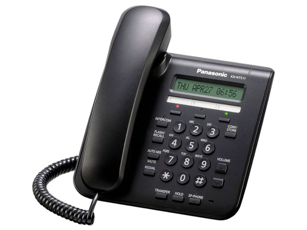 Телефон Panasonic KX-NT511ARUB Цифр. IP-телефон цена и фото