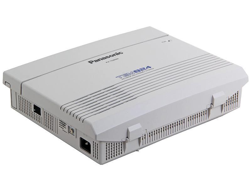 АТС Panasonic KX-TEM824RU аналоговая, 6 внешних и 16 внутренних линий (предельная ёмкость 8 внешних Panasonic