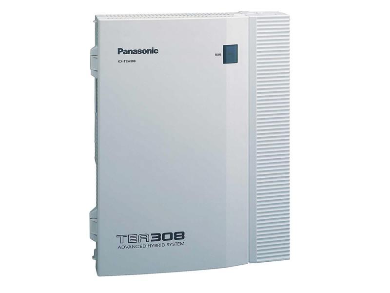 АТС Panasonic KX-TEB308RU аналоговая, 3 внешних и 8 внутренних линий (нерасширяемая)