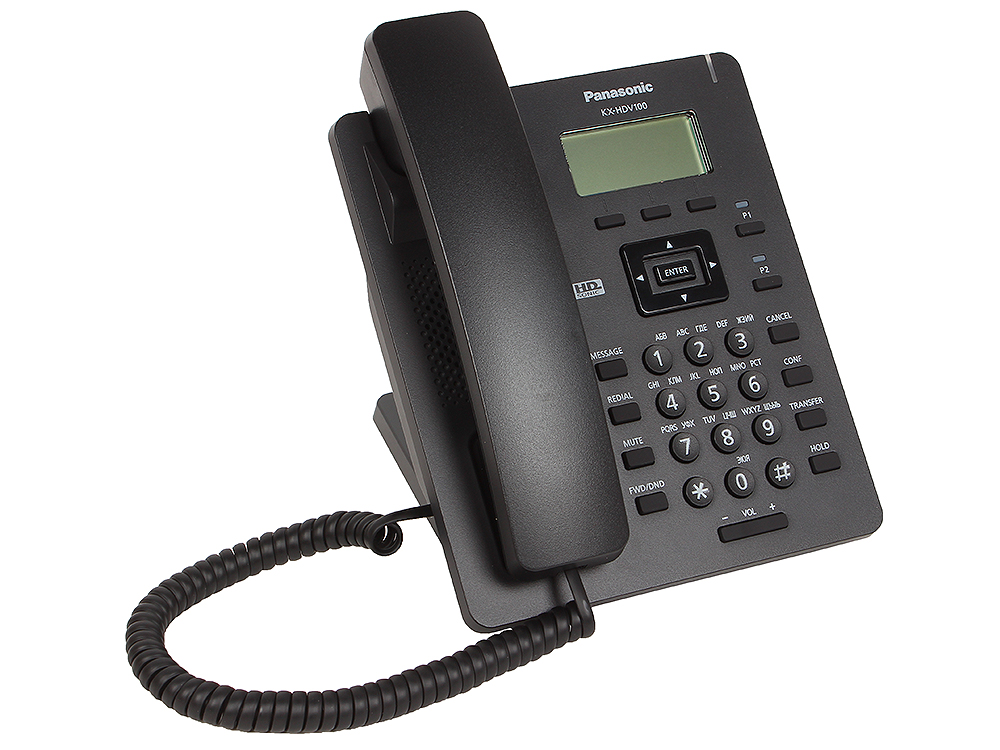 Картинка для Телефон IP Panasonic KX-HDV100RUB SIP Цифр. IP-телефон, VoIP, Ethernet, Память 500, Звук HD