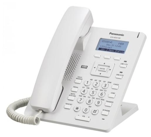 Картинка для Телефон IP Panasonic KX-HDV130RU SIP Цифр. IP-телефон, VoIP, Ethernet, UpTo 2 SIP/Ether. Line, Память 500, Звук HD