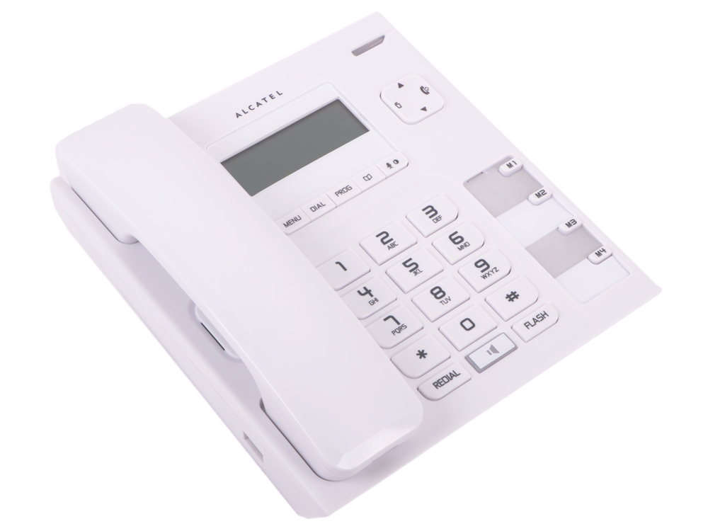 Телефон ALCATEL T56 White АОН, Display, Flash, Recall, Wall mt. радиотелефон alcatel е192 ru white