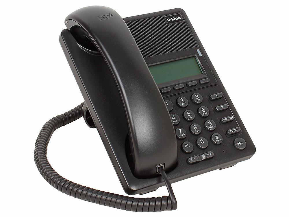 IP - телефон D-Link DPH-120SE/F1A IP-телефон с 1 WAN-портом 10/100Base-TX с поддержкой PoE и 1 LAN-портом 10/100Base-TX
