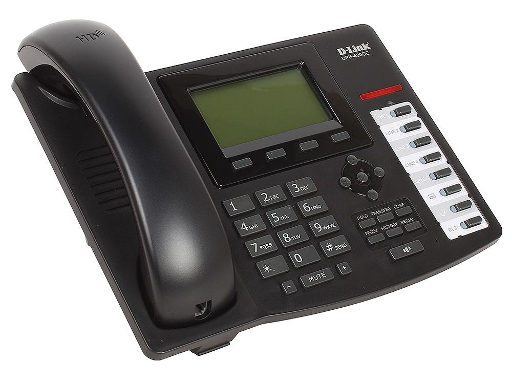 IP - телефон D-Link DPH-400GE/F1A IP-телефон с 1 WAN-портом 10/100/1000Base-T, 1 LAN-портом 10/100/1000Base-T и поддержкой PoE ip телефон d link dph 150s f